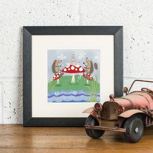 'Hedgehugs Tea Party' Framed Print