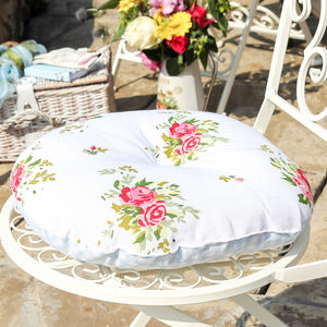 Floral Round Seat Pad - decorative accessories