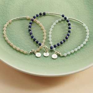Personalised Gemstone Friendship Bracelet - bracelets & bangles