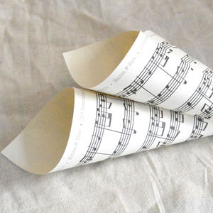 Personalised Music Sheet Confetti Cones - dining room