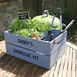 Personalised Barbecue Crate - personalised gifts