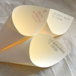 Personalised Wedding Confetti Cones - dining room