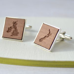 Personalised Map Cufflinks - women's jewellery