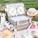 Personalised Willow Picnic Hamper For Four