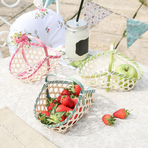 Set Of Three Wicker Egg Hunt Trugs - baskets