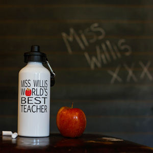 Personalised World's Best Teacher Water Bottle