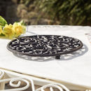 Cast Iron Ornate Oval Trivet