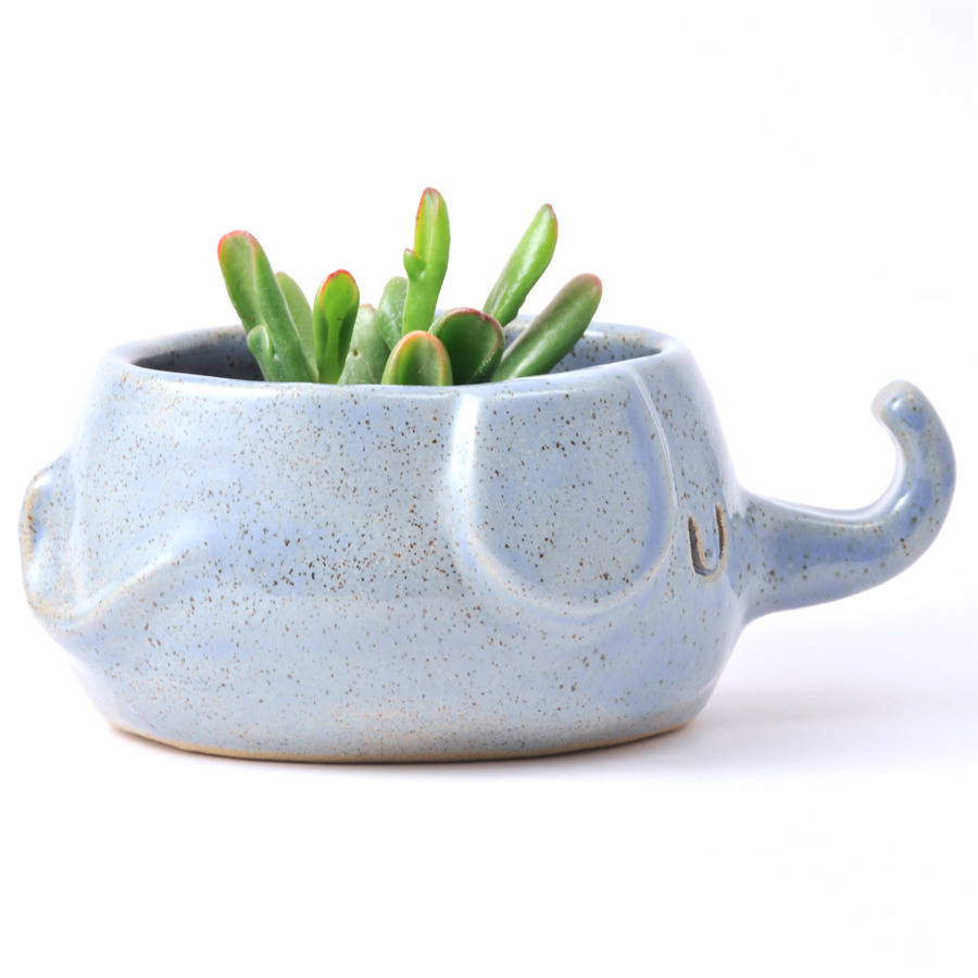 Elephant Stoneware Ceramic Plant Pot By Design Forest