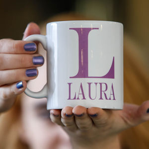 Personalised Colour Initial Mug