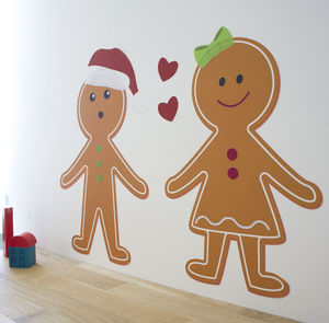 Gingerbread Men Creator Kit Fabric Wall Stickers - christmas wall stickers