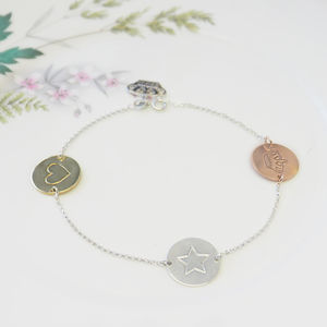 Engraved Disc Bracelet