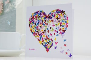 Special Mom Butterfly Card - birthday cards