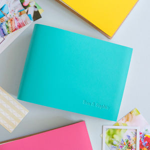 Coloured Leather Photo Album - diaries, stationery & books