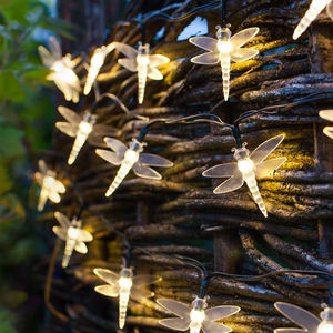 Warm White Solar Dragonfly Fairy Lights - occasional supplies