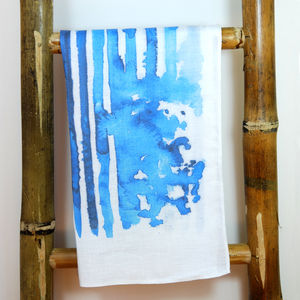 Blue Rain Tea Towel