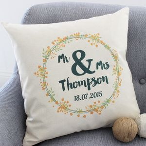 Personalised Summer Wedding Cushion - personalised wedding gifts