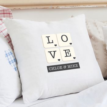 Love Tiles Personalised Cushion Cover