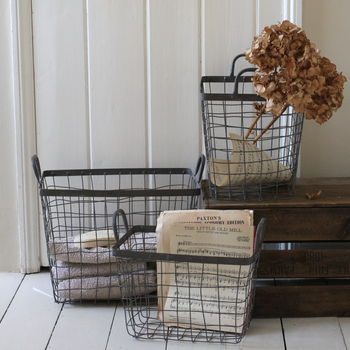 Set Of Three Metal Baskets