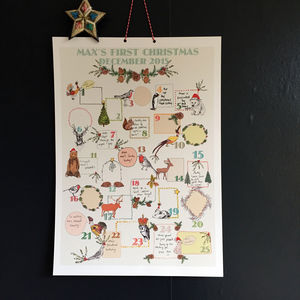 Keepsake Personalised Baby's First Advent Calendar - advent calendars