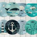 24 Ahoy Nautical Paper Cups