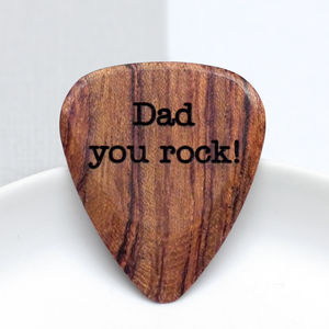 Personalised Wooden Plectrum - keyrings