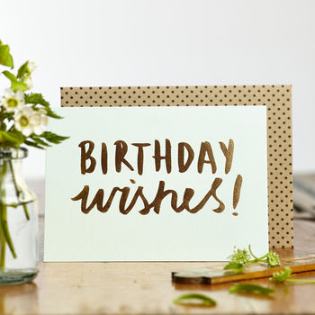 Luxe Foiled Birthday Wishes Card