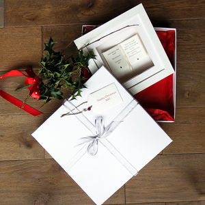'Book' Personalised Card, Gift And Luxury Keepsake Box