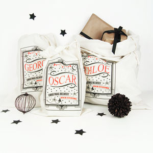 Personalised Christmas Sack - baby & child sale