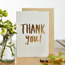 Luxe Foiled Thank You Card