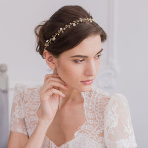Pearl Flower Wedding Hair Vine - hats, hairpieces & hair clips