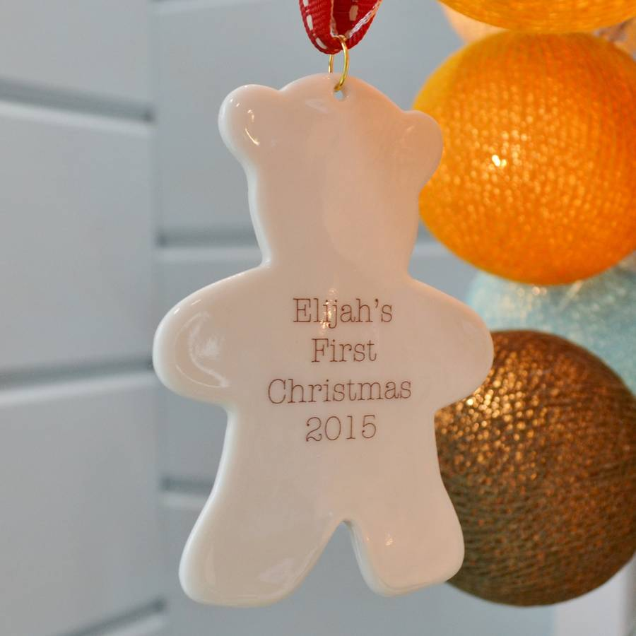 Baby 39 s 1st christmas decoration by carys boyle ceramics for Babys first christmas decoration