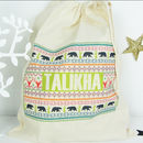 Personalised 'Fairisle' Christmas Sack