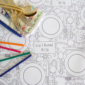 Colour In Wedding Tablecloth - dining room