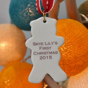 Baby Teddy Christmas Decoration - tree decorations