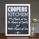 Personalised 'Our Kitchen' Print