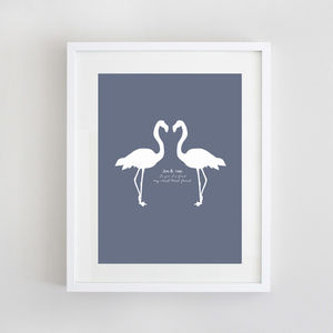 Personalised Friendship Flamingo Print - home accessories