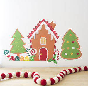 Gingerbread House Creator Kit Fabric Wall Stickers - decorative accessories