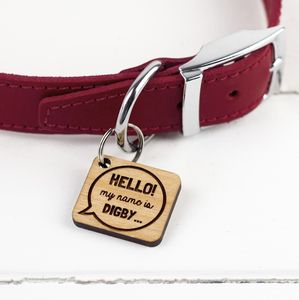 Fun Speech Bubble Dog Tag - pet tags & charms