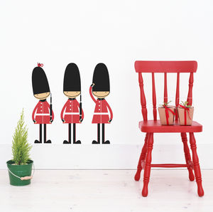 Queen's Guards Fabric Wall Stickers - christmas wall stickers