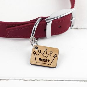 Fun Crown Dog Tag - dogs