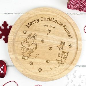 Personalised Santa's Christmas Treat Plate - table decorations