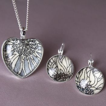 Liberty Sunflower Necklace And Earring Set