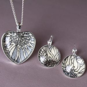 Liberty Sunflower Necklace And Earring Set - earrings