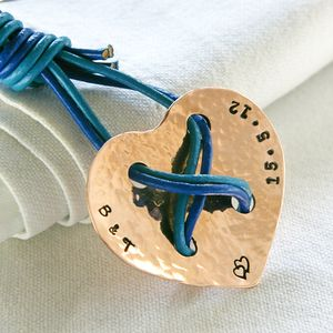 Personalised Boxed 'Cross Your Heart' Keyring - for him