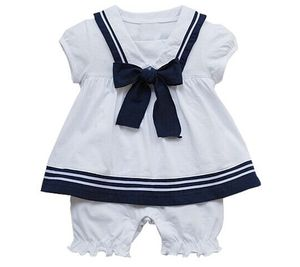 Baby Girl Sailor All In One Romper Outfit - more