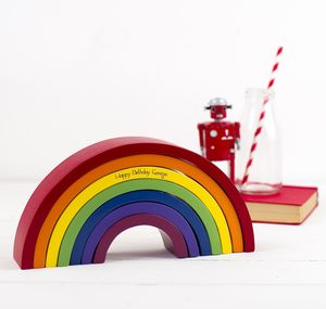 Personalised Decorative Rainbow Stacking Toy - keepsakes