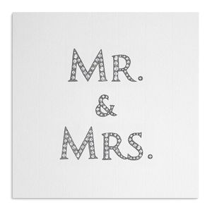 Mr And Mrs Card With Swarovski Crystals