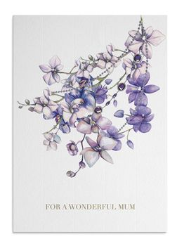 Mum Orchids Crystal Card