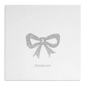 Crystal Bow Thank You Card