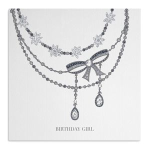 Bow Necklace Birthday Card